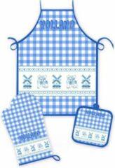 Matix Keukenset Molen En Kuspaar Blauwe Ruit - Souvenir