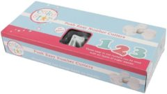 Witte Cake Star Plunger Cutters - voor fondant - nummer set - 10 stekers
