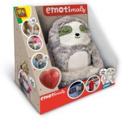 Grijze SES Creative knuffel Lenny Emotimals 30 x 20 cm luiaard