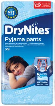 Afbeelding van Huggies Incontinentie Luiers Drynites Boy 8-15jaar 48plusmnd