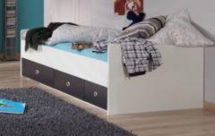 Bett 90 x 200 cm alpinweiss/ graphit Wimex Rocco