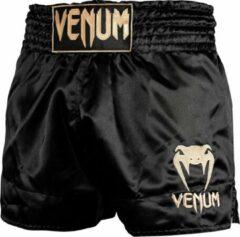 Venum Classic Muay Thai Kickboks Broekjes Zwart Goud Maat S - Kids 9/10 Jaar | Jeans maat 28