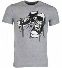 Grijze T-shirt Korte Mouw Mascherano T-shirt - Sneakers