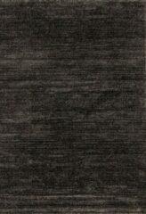 Antraciet-grijze Impression Rugs Design Collection Loft Effen Antraciet vloerkleed Laagpolig - 240x340 CM