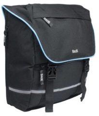 Zwarte Beck SPRTV Shopper Blauwe Bies enkele fietstas 15 liter