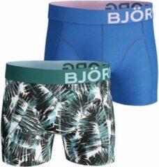 Björn Borg Bj rn Borg Summer Palm boxershort 2-pack heren blauw/groen