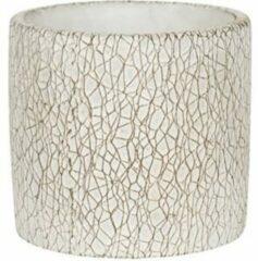 NDT International Pot Leon White 14x13 cm witte ronde bloempot voor binnen