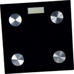 Zilveren Déluxa Slimme Weegschaal - Opslag voor 7 personen - Meet 8 lichaamgegevens - BMI - Vet - Spieren - Zwart