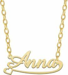 Gouden Taboo Sieraden Vergulde naamketting met hartje