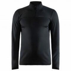 Zwarte Craft Core Gain Midlayer Sportshirt Heren - Maat S