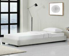 Corium Modern bedframe met bedbodem 90x200 cm wit