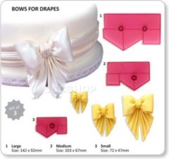 Roze JEM Cutters JEM Bows For Drapes Set/3 | Draperie strikken