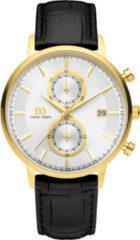 Gouden Danish Design watches edelstalen herenhorloge Samsø Silver Gold IQ11Q1215