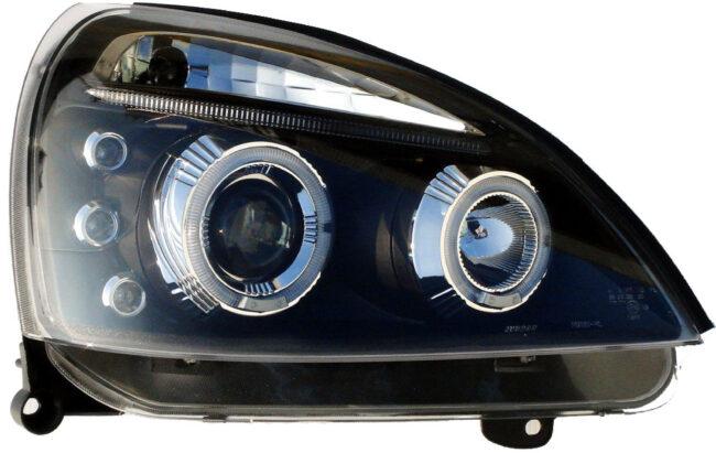 Afbeelding van Universeel Set Koplampen Renault Clio II Facelift 2001-2005 - Zwart - incl. Angel-Eyes