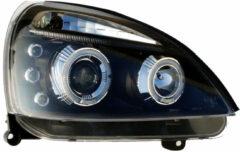 Universeel Set Koplampen Renault Clio II Facelift 2001-2005 - Zwart - incl. Angel-Eyes