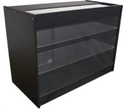 MonsterShop K1200 Glazen Vitrine – Toonbank – Kassa – Balie – Toog – Bar – Zwart