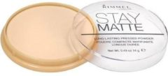 Transparante Rimmel London Stay Matte Pressed Powder - 001 Transparent - Powder