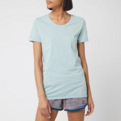 Grijze Adidas 25/7 hardloopshirt voor dames - Hardloopshirts (korte mouwen)