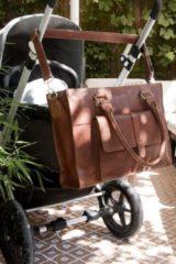 Mozz Bags MOZZ Luiertas Pretty Pocket - Cognac