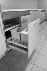 Hailo Afvalsysteem Separato 34 liter (2x8+18) K2-60 3620-61 grijs