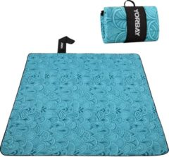 Sens Design XXL Waterdicht Picknickkleed – 200x200 cm – Buitenkleed Blauw