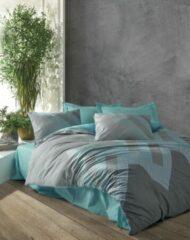 Turquoise Cotton Box - Ranforce River - Dekbedovertrekset (100% Katoen) - 200X220 CM