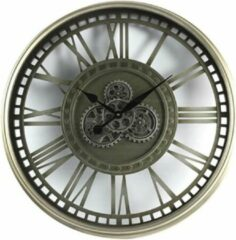 Klok rond Levi - 80cm - Antiek Zilver - Countryfield