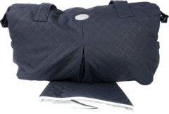 Marineblauwe P'tit Chou - verzorgingstas - Trento navy blue - inclusief verschoningsmatje - stof