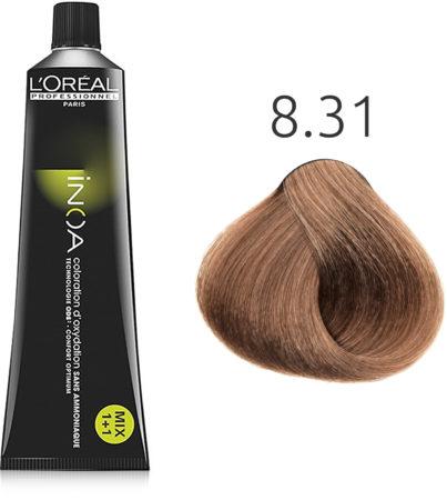Afbeelding van L'Oreal Professionnel L'Oréal - INOA - 8.31 Licht Goud Asblond - 60 gr