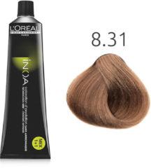 L'Oreal Professionnel L'Oréal - INOA - 8.31 Licht Goud Asblond - 60 gr
