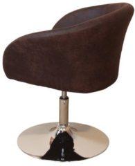 Möbel direkt online Moebel direkt online Drehstuhl Drehsessel höhenverstellbar Mikrofaserbezug, braun