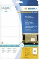 Verzendetiketten Herma 8330 weerbestendig A4 99,1x57 mm wit vast hechtend folie mat 250 st
