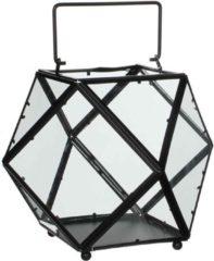Antraciet-grijze Mica Decorations lois lantaarn zwart maat in cm: 30 x 30 x 24