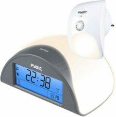 Antraciet-grijze Fysic FC-38 Alarmklok met Dwaaldetector - Dwaaldetectie voorkomt nachtelijk dwalen - Wit