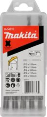 Makita Hamerborenset 5-delig SDS+ in Cassette B-54710 - 5/6/8x110 en 160 mm