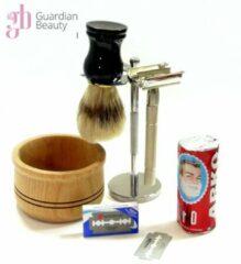 Bruine Guardian Beauty Compleet scheerset / Voor mannen 6-in-1 / Baardverzorging scheerset / scheerkwast / Black