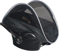 Grijze Deryan Klamboe voor autostoel - Zwart - Zon en muggenbeschermer - Klamboe - Pop Up systeem