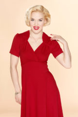Rode Very Cherry Hollywood Circle dress in Red