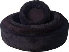 Zwarte Gebr. de Boon Gebr de Boon teddymand zwart nr 4 70 cm
