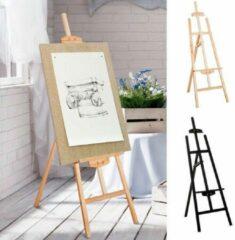Eazelmate Professionele Staande Schildersezel - Schilderij Ezel Standaard Houder - Atelier Veldezel - Duurzaam Beukenhout - In Hoogte Verstelbaar