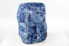 Blauwe DripDropBag Backpack cover rugzak regenhoes jeans
