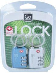 Combi Cable Lock Kofferschloss TSA Set 2tlg. 5 cm GoTravel metall