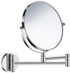 Saniclass Make-Up Spiegel / Scheerspiegel Wandmontage 7x vergrotend 17cm chroom Z628