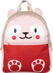 The Little Green Bag The Little groen Bag Schooltas Fauna Panda Roze