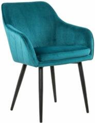 Artistiq Living Artistiq Eetkamerstoel 'Juna' Velvet, kleur Turquoise