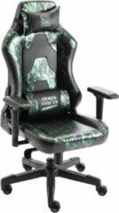 Groene Game Hero x LC-Power Luxe Gaming Stoel - Bureaustoel - Verstelbare Armleuningen - Stoel Met Hoofdkussen - Game Stoel - Leger