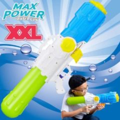 XXL Waterpistool - MEGA Super soaker waterpistool voor jongens - Jumbo waterkanon - Supersoaker water pistool voor kinderen - Waterspeelgoed Watergeweer - Water gun met groot water reservoir - Afm 80x15x27 Cm - 3.2 Liter GROEN/BLAUW - Decopatent®