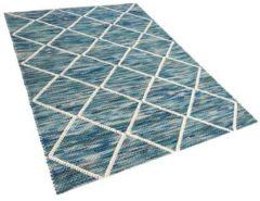Beliani Vloerkleed blauw 160 x 230 cm BELENLI