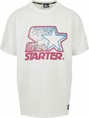 Urban classics Starter Heren Tshirt -M- Starter Multicolored Logo Wit