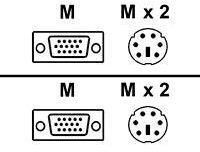 TRENDnet TK - Tastatur- / Video- / Maus- (KVM-) Kabel TK-C06